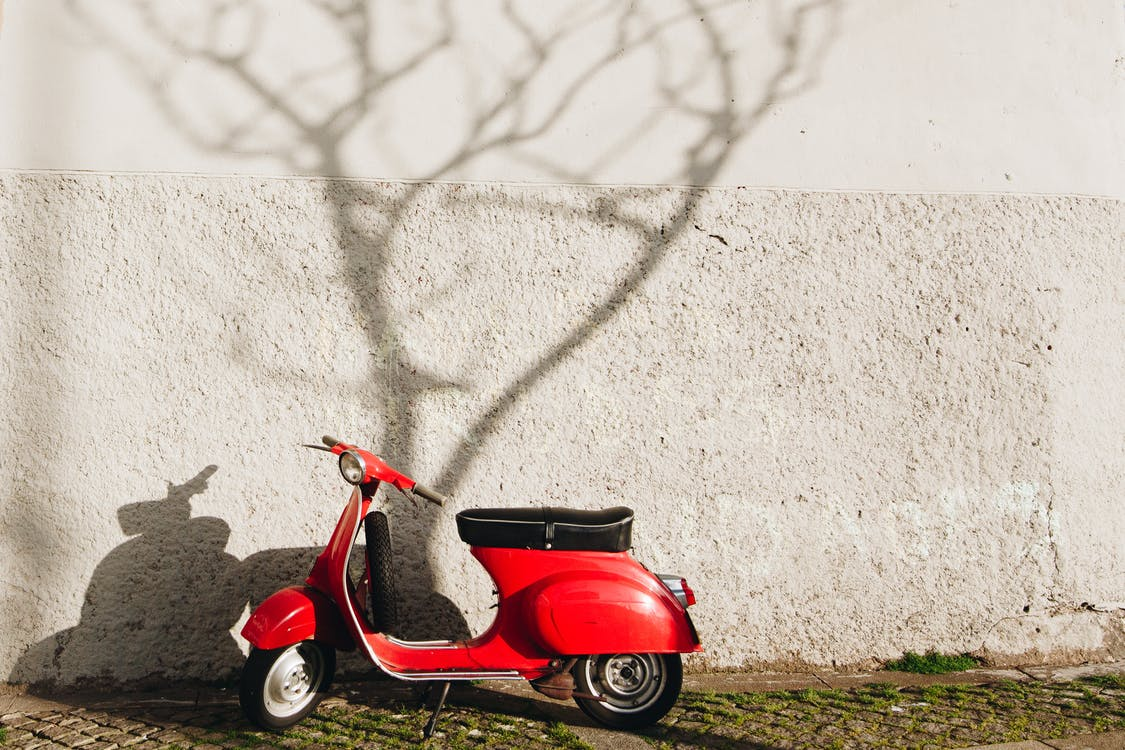 scooter electrique rouge